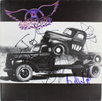 "Aerosmith ""Pump"" Vinyl Record Album Signed by (5) with Steven Tyler, Tom Hamilton, Joey Kramer, Joe Perry (Beckett LOA)"
