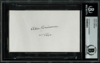"Alec Guinness Signed Index Card Inscribed ""1994"" (BAS Encapsulated)"