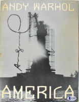 "Andy Warhol Signed ""America"" Paperback Book (Beckett LOA) at PristineAuction.com"