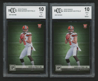 Lot of (2) 2018 Panini #308 Baker Mayfield RC (BCCG 10) at PristineAuction.com