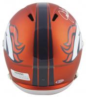 "John Elway Signed Denver Broncos Full-Size Blaze Speed Helmet Inscribed ""HOF 04"" (Beckett COA) at PristineAuction.com"