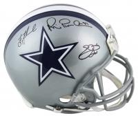 Troy Aikman, Emmitt Smith & Michael Irvin Signed Dallas Cowboys Full-Size Authentic On-Field Helmet (Beckett COA & Prova Hologram)