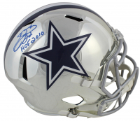 "Emmitt Smith Signed Dallas Cowboys Chrome Full-Size Speed Helmet Inscribed ""HOF 2010"" (Beckett COA & Prova Hologram)"