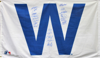 "LE Chicago Cubs 3x5 ""W"" Flag Team-Signed by (20) with Kris Bryant, Anthony Rizzo, David Ross, Ben Zorbist (Fanatics Hologram & MLB Hologram)"