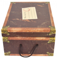 """""""Harry Potter"""" Complete 1st Edition Hardcover Set of (7) Books Signed by Daniel Radcliffe with Trunk (Beckett COA) at PristineAuction.com"""