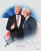 Donald Trump & Mike Pence Signed 16x20 Photo (Beckett LOA)