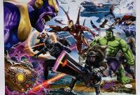 """Greg Horn Signed """"Avengers: Infinity War"""" 13x19 Lithograph (JSA COA)"""