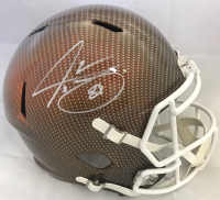 Jarvis Landry Signed Cleveland Browns Full-Size Hydro Dipped Speed Helmet (JSA COA)