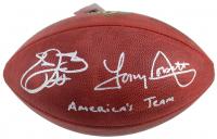 "Emmitt Smith & Tony Dorsett Signed Official NFL Game Ball Inscribed ""America's Team"" (Beckett COA & Prova Hologram)"