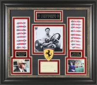 Enzo Ferrari Signed 30.25x34.25 Framed Cut Display (Beckett LOA)