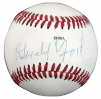 Gerald Ford Signed Little League Baseball (PSA COA)