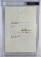 "Harry S. Truman Signed 1964 Type Letter Inscribed ""Hope All's Well with You!"" (BGS Encapsulated)"