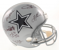 "Dallas Cowboys Greats Full-Size Helmet Team-Signed by (23) with Roger Staubach, Troy Aikman, Michael Irvin, Emmitt Smith, Randy White, Ed ""Too Tall"" Jones with Multiple Inscriptions (Radtke COA, Prova Hologram, & Aikman Hologram) at PristineAuction.com"