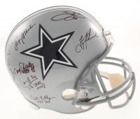 "Dallas Cowboys Greats Full-Size Helmet Team-Signed by (23) with Roger Staubach, Troy Aikman, Michael Irvin, Emmitt Smith, Randy White, Ed ""Too Tall"" Jones with Multiple Inscriptions (Radtke COA, Prova Hologram, & Aikman Hologram)"