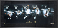 LeBron James Signed LE Miami Heat 20.25x41.25 Framed Photo Display (Beckett LOA & UDA Hologram)