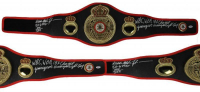 Mike Tyson Signed WBA Full-Size Heavyweight Champion Belt with (5) Inscriptions (PSA COA)