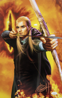 "Greg Horn Signed ""Lord Of The Rings - Legolas"" 11x17 Lithograph (JSA COA)"