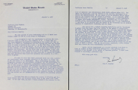 John F. Kennedy Signed 1958 Two-Page Letter (Beckett LOA)