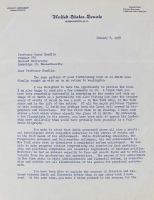 John F. Kennedy Signed 1958 Two-Page Letter (Beckett LOA) at PristineAuction.com