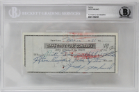 Judy Garland Signed Personal Bank Check (BAS Encapsulated)