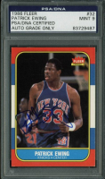 Patrick Ewing Signed 1986-87 Fleer #32 (PSA Encapsulated)