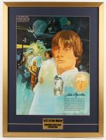 Vintage 1977 Coca Cola Star Wars 24x32 Custom Framed Poster Display