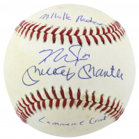 "Mickey Mantle & Mike Trout Signed OAL Baseball Inscribed ""Commerce Comet"" & ""Millville Meteor"" (PSA LOA & MLB Hologram)"