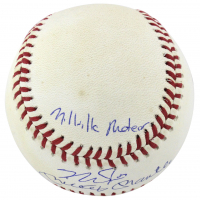 "Mickey Mantle & Mike Trout Signed OAL Baseball Inscribed ""Commerce Comet"" & ""Millville Meteor"" (PSA LOA & MLB Hologram) at PristineAuction.com"