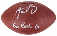 "Aaron Rodgers Signed Official NFL Game Ball Inscribed ""Go Pack Go"" (Fanatics Hologram)"