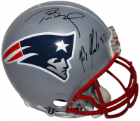 Tom Brady & Rob Gronkowski Signed New England Patriots Full-Size Authentic On-Field Helmet (PSA COA)