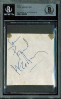 "Paul McCartney Signed 2.5x2.5 Cut Inscribed ""Love"" (BGS Encapsulated)"
