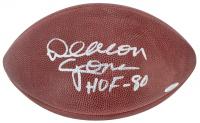 """Deacon Jones Signed NFL Football Inscribed """"HOF - 80"""" (Beckett COA)"""