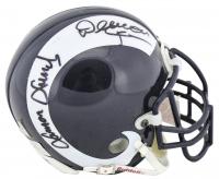 """Fearsome Foursome"" Los Angeles Rams Throwback Mini Helmet Signed by Rosey Grier, Lamar Lundy, Merlin Olsen & Deacon Jones (Beckett LOA)"