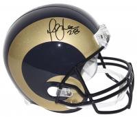 Marshall Faulk Signed St. Louis Rams Full-Size Helmet (Beckett COA)