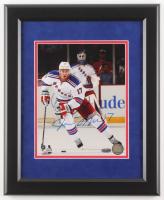 John Moore Signed New York Rangers 13x16 Custom Framed Photo Display (Steiner COA)