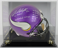 Jared Allen Signed LE Minnesota Vikings Full-Size Helmet with Career Highlight Stat Inscriptions with Display Case (PSA COA)