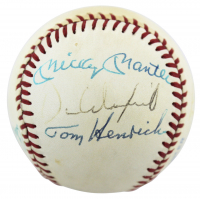 New York Yankees Greats OAL Baseball Signed by (8) with Mickey Mantle, Joe DiMaggio (PSA LOA)