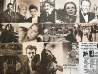 Lot of (98) Famous Stars Matte Finish Sepia Tone 11x14 Photos with Marlyn Monroe, Clint Eastwood, John Wayne, Elvis Presley, Frank Sinatra, Jackie Gleason, The Honeymooners at PristineAuction.com