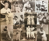 Lot of (52) Legends of the Game Matte Finished Sepia Tone 11x14 Photos with Babe Ruth, Joe DiMaggio, Mickey Mantle, Thurman Munson, Hank Aaron, Ty Cobb, Lou Gehrig, Roger Maris, Willie Mays, Jackie Robinson, Ted Williams, Yogi Berra, Mike Schmidt, Nolan R at PristineAuction.com