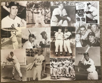 Lot of (51) Legends of the Game Matte Finished Sepia Tone 11x14 Photos with Babe Ruth, Joe DiMaggio, Mickey Mantle, Thurman Munson, Hank Aaron, Ty Cobb, Lou Gehrig, Roger Maris, Willie Mays, Jackie Robinson, Ted Williams, Yogi Berra, Mike Schmidt, Nolan R at PristineAuction.com