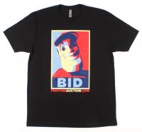 "Pristine Auction - Mr. Pristine ""Bid"" Campaign T-Shirt - Black (Size: XL) at PristineAuction.com"