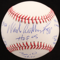 Wade Anthony Boggs Signed OML Baseball with Multiple Stat Inscriptions (JSA COA) at PristineAuction.com