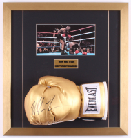Mike Tyson Signed 18x19 Custom Framed Boxing Glove Display (JSA COA)