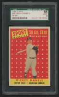 1958 Topps #487 Mickey Mantle All-Star TP (SGC 8) at PristineAuction.com