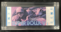 1971 Super Bowl V Full Unused Ticket
