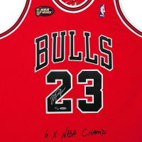 Michael Jordan Signed Chicago Bulls Limited Edition 1997-98 NBA Finals Jerey (UDA COA) at PristineAuction.com