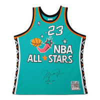 "Michael Jordan Signed 1996 NBA All-Star Limited Edition Jerey Inscribed ""2/11/96 MVP"" (UDA COA)"