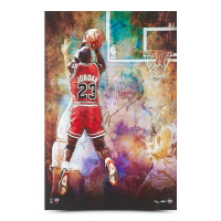 "Michael Jordan Signed Chicago Bulls ""The Shot"" 24x36 Limited Edition Photo (UDA COA) at PristineAuction.com"