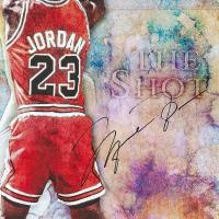 "Michael Jordan Signed Chicago Bulls ""The Shot"" 24x36 Limited Edition Photo (UDA COA) at PristineAuction.com"