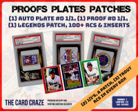 "The Card Craze ""Proofs Plates & Patches"" Multi-Sport Mystery Box"